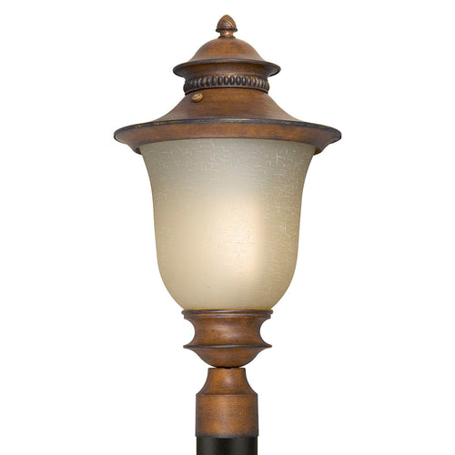 Forte Lighting Signature 1 Light 21 inch Rustic Sienna Outdoor Post Lantern