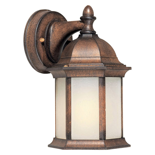 Forte Lighting Signature 1 Light 5 inch Rustic Sienna Outdoor Lantern