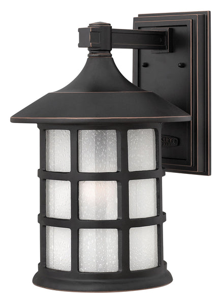 Hinkley Lighting 1805OP-GU24 Freeport 1 Light 15 inch Olde Penny Outdoor Wall in Etched Seedy GU24 Clear Seedy Glass
