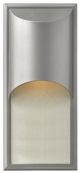 Hinkley Lighting 1834TT-GU24 Cascade 1 Light 18 inch Titanium Outdoor Wall in GU24 Alabaster Glass