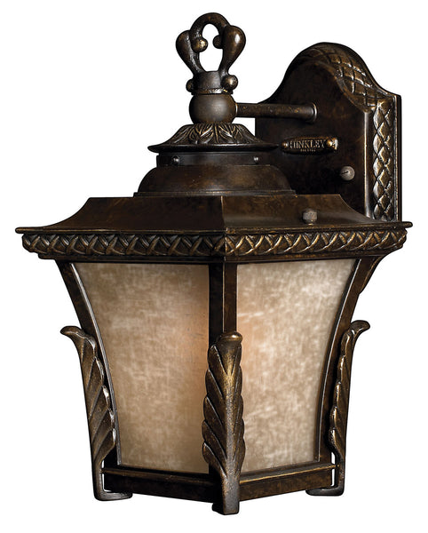 Hinkley Lighting 1930RB-GU24 Brynmar 1 Light 12 inch Regency Bronze Outdoor Wall in GU24 Amber Linen Glass
