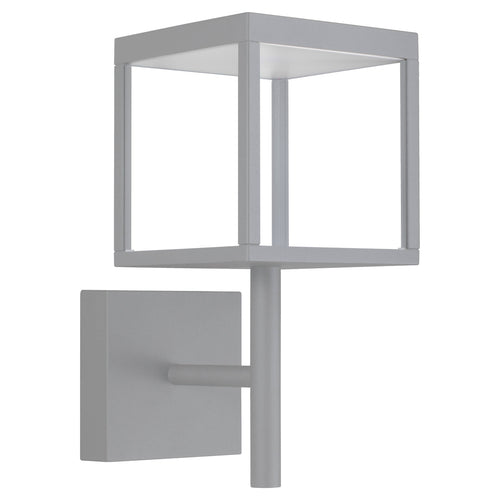 Access Lighting 20080LED-SG/CLR Reveal LED 15 inch Satin Gray Outdoor Wall Sconce