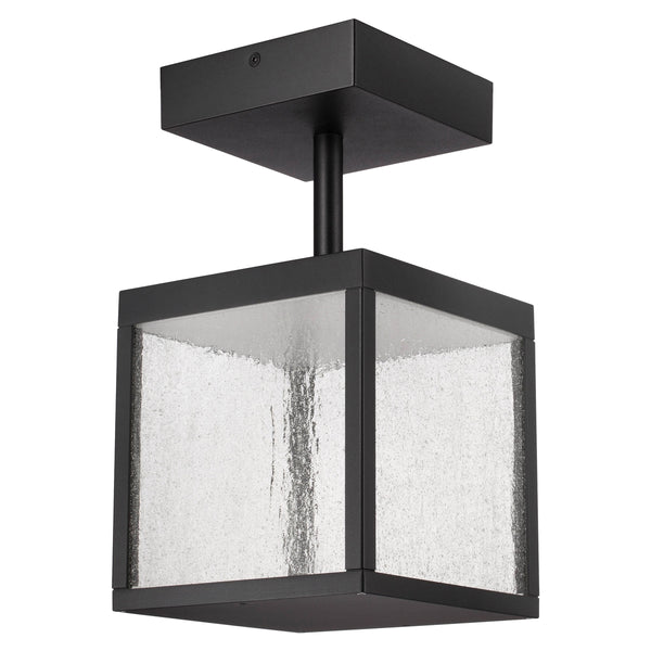 Access Lighting Reveal LED 7 inch Black Outdoor Semi Flush Mount