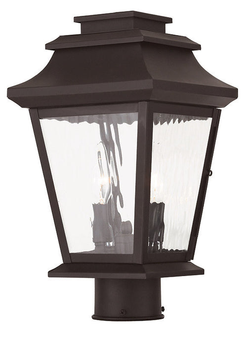 Livex 20234-07 Hathaway 2 Light 15 inch Bronze Outdoor Post Light