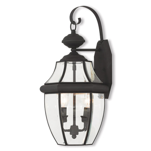Livex 20284-04 Monterey 2 Light 20 inch Black Outdoor Wall Lantern