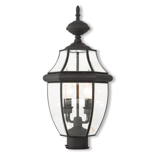 Livex 20285-04 Monterey 2 Light 21 inch Black Post-Top Lantern