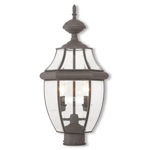 Livex 20285-07 Monterey 2 Light 21 inch Bronze Post-Top Lantern