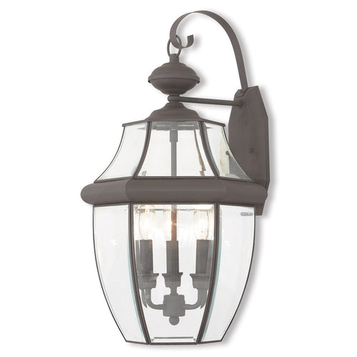 Livex 20286-07 Monterey 3 Light 23 inch Bronze Outdoor Wall Lantern