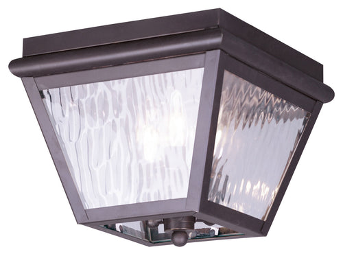 Livex 2029-07 Cambridge 3 Light 10 inch Bronze Outdoor Ceiling Mount