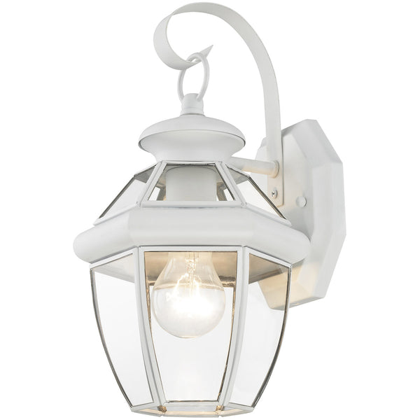Livex Monterey 1 Light 13 inch White Outdoor Wall Lantern