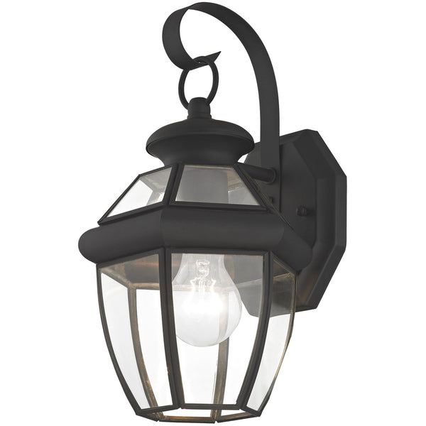 Livex 2051-04 Monterey 1 Light 13 inch Black Outdoor Wall Lantern