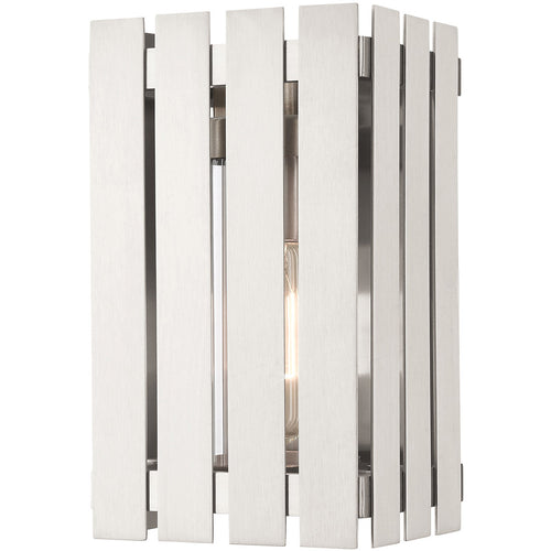 Livex Greenwich 1 Light 10 inch Brushed Nickel Outdoor Wall Lantern