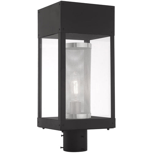 Livex 20763-04 Franklin 1 Light 19 inch Black Post Top Lantern