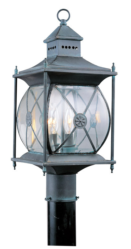 Livex 2094-61 Providence 2 Light 20 inch Charcoal Outdoor Post Head