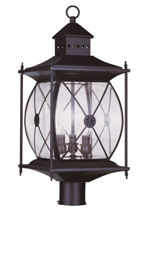 Livex 2096-07 Providence 3 Light 23 inch Bronze Outdoor Post Head