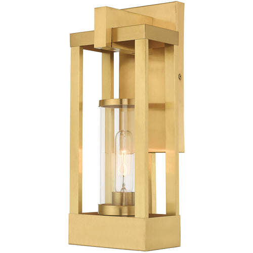 Livex 20992-12 Delancey 1 Light 16 inch Satin Brass Wall Lantern