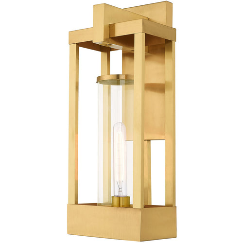 Livex 20993-12 Delancey 1 Light 20 inch Satin Brass Wall Lantern