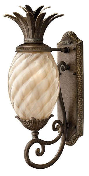 Hinkley Lighting 2120PZ-LED Plantation 1 Light 21 inch Pearl Bronze Outdoor Wall Lantern in LED