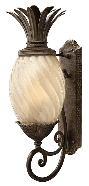 Hinkley Lighting 2124PZ-GU24 Plantation 1 Light 28 inch Pearl Bronze Outdoor Wall in GU24