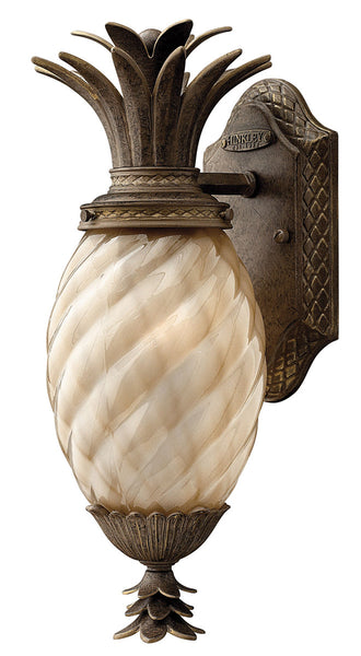 Hinkley Lighting 2126PZ-GU24 Plantation 1 Light 14 inch Pearl Bronze Outdoor Wall in GU24