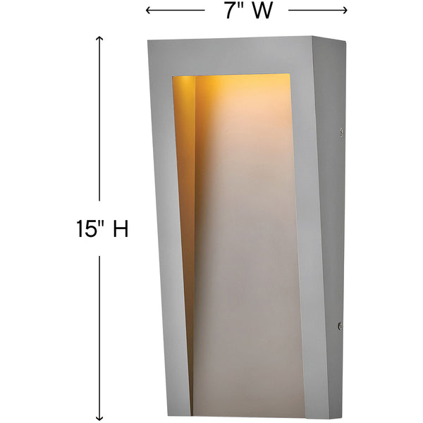 Hinkley Lighting Taper LED 15 inch Textured Graphite Outdoor Wall Mount