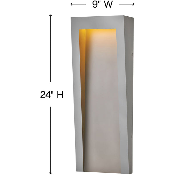 Hinkley Lighting Taper LED 24 inch Textured Graphite Outdoor Wall Mount