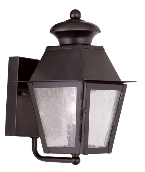 Livex 2160-07 Mansfield 1 Light 9 inch Bronze Outdoor Wall Lantern