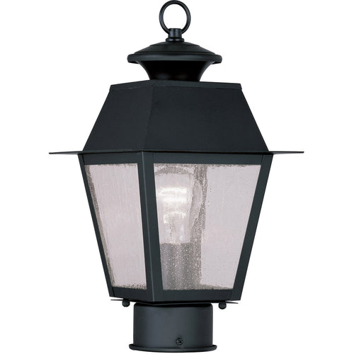 Livex 2163-04 Mansfield 1 Light 14 inch Black Outdoor Post Head