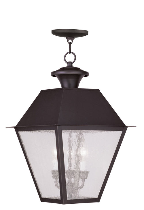 Livex 2170-07 Mansfield 3 Light 12 inch Bronze Outdoor Hanging Lantern