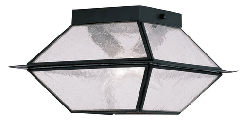 Livex 2175-04 Mansfield 2 Light 9 inch Black Outdoor Ceiling Mount