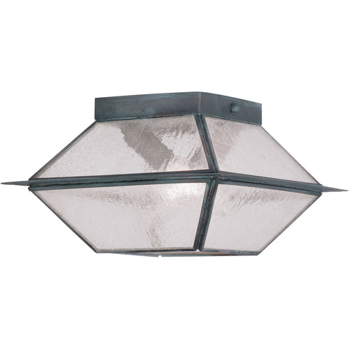 Livex Mansfield 2 Light 9 inch Charcoal Outdoor Ceiling Mount