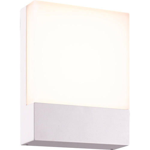 Arnsberg Pecos 1 Light 8 inch White Outdoor Wall Light