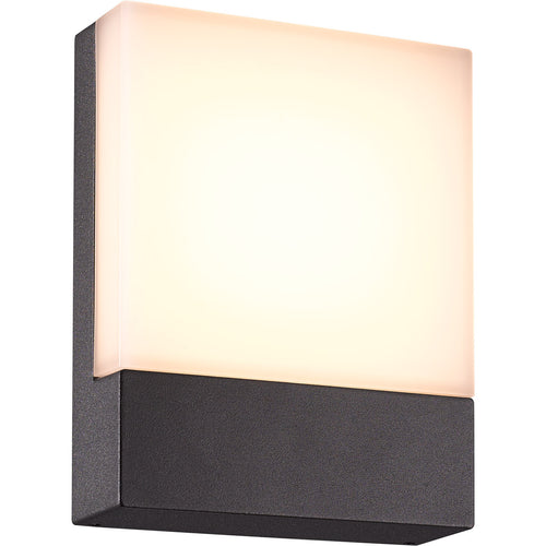 Arnsberg Pecos 1 Light 8 inch Dark Grey Outdoor Wall Light