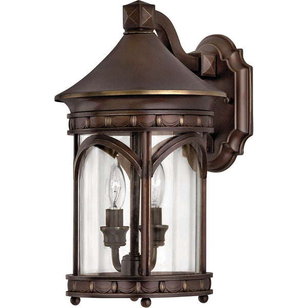 Hinkley Lighting 2310CB-LED Lucerne 1 Light 15 inch Copper Bronze Outdoor Wall in LED Clear Glass