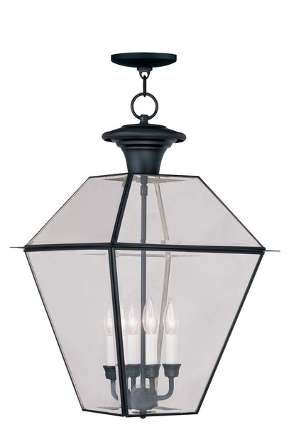 Livex Westover 4 Light 15 inch Black Outdoor Hanging Lantern