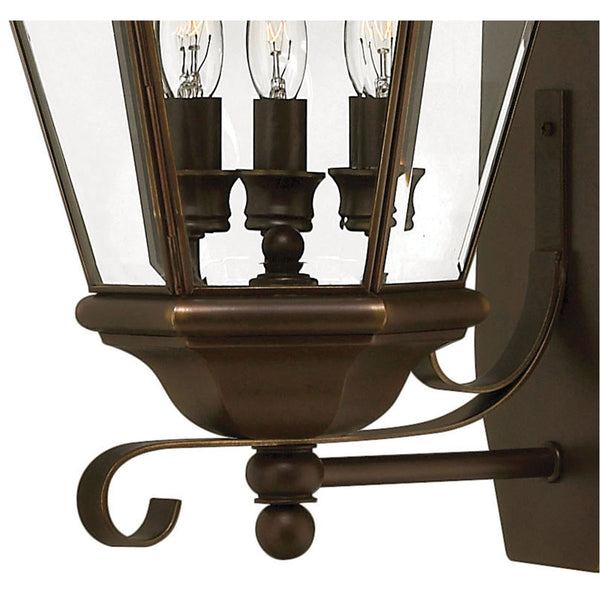 Hinkley Lighting Clifton Park 3 Light 26 inch Copper Bronze Outdoor Wall Mount