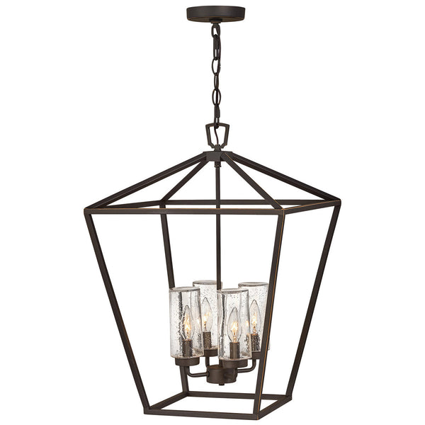 Hinkley Lighting Open Air Alford Place 17 inch Oil Rubbed Bronze Outdoor Hanging