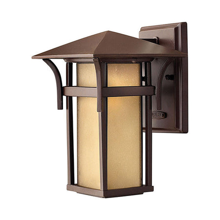 Craftmade Luna LED 17 inch Satin Aluminum Outdoor Pocket Sconce Small