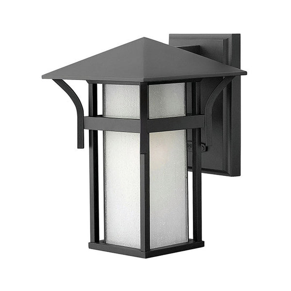 Hinkley Lighting Harbor 1 Light 11 inch Satin Black Outdoor Wall Mount in Incandescent