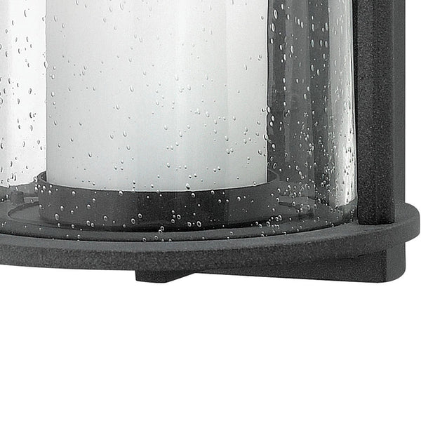 Hinkley Lighting 2614DZ Quincy 1 Light 14 inch Aged Zinc Outdoor Wall Mount in Incandescent Seedy Outer Glass