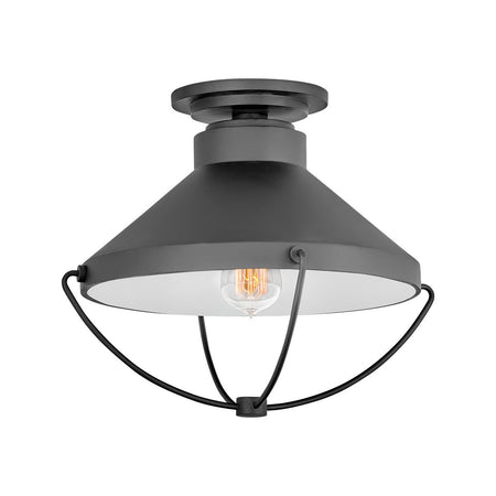 Hinkley Lighting Grant 1 Light 9 inch Textured Black Outdoor Hanging Light