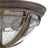 Hinkley Lighting 2903RB Key West 2 Light 15 inch Regency Bronze Outdoor Flush Mount in Incandescent Clear Seedy Glass