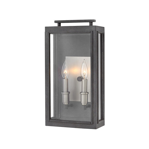 Hinkley lighting outdoor lighting by lny hinkley lighting 2914dz sutcliffe 2 light 17 inch aged zinc outdoor wall mount mozeypictures Gallery