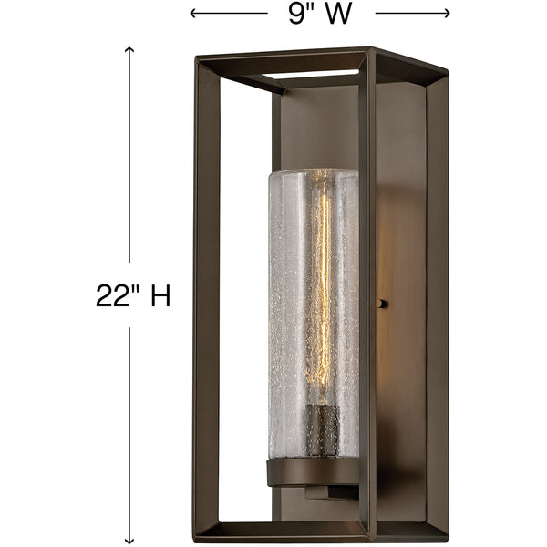 Hinkley Lighting 29309WB Rhodes 1 Light 22 inch Warm Bronze Outdoor Wall Mount Open Air