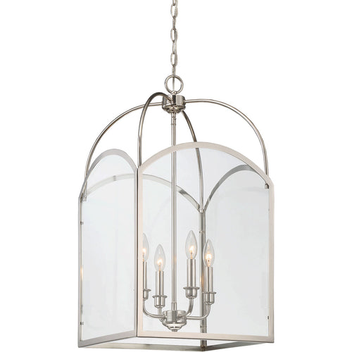 Savoy House Lighting Garrett 4 Light 15 inch Polished Nickel Lantern