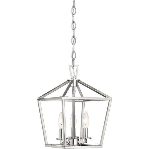 Savoy House Lighting Townsend 3 Light 10 inch Polished Nickel Lantern
