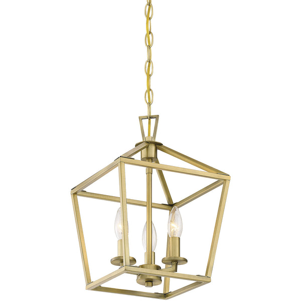 Savoy House Lighting Townsend 3 Light 10 inch Warm Brass Lantern