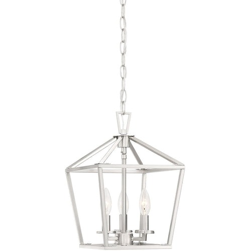 Savoy House Lighting Townsend 3 Light 10 inch Satin Nickel Lantern