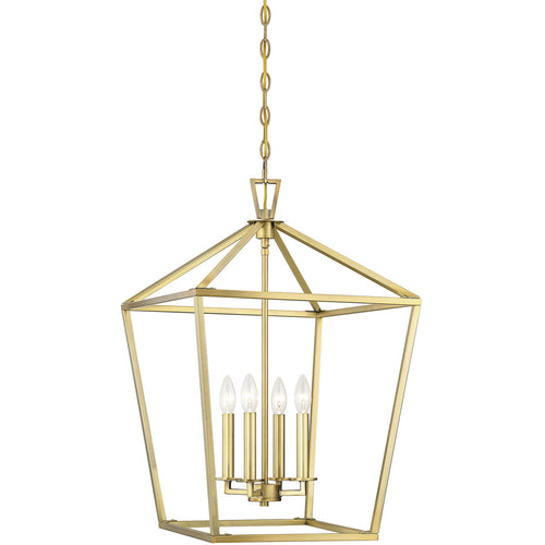 Savoy House Lighting Townsend 4 Light 17 inch Warm Brass Lantern