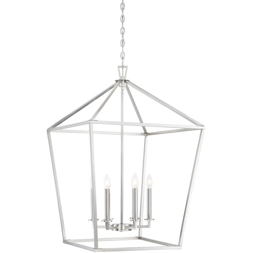 Savoy House Lighting Townsend 6 Light 24 inch Satin Nickel Lantern